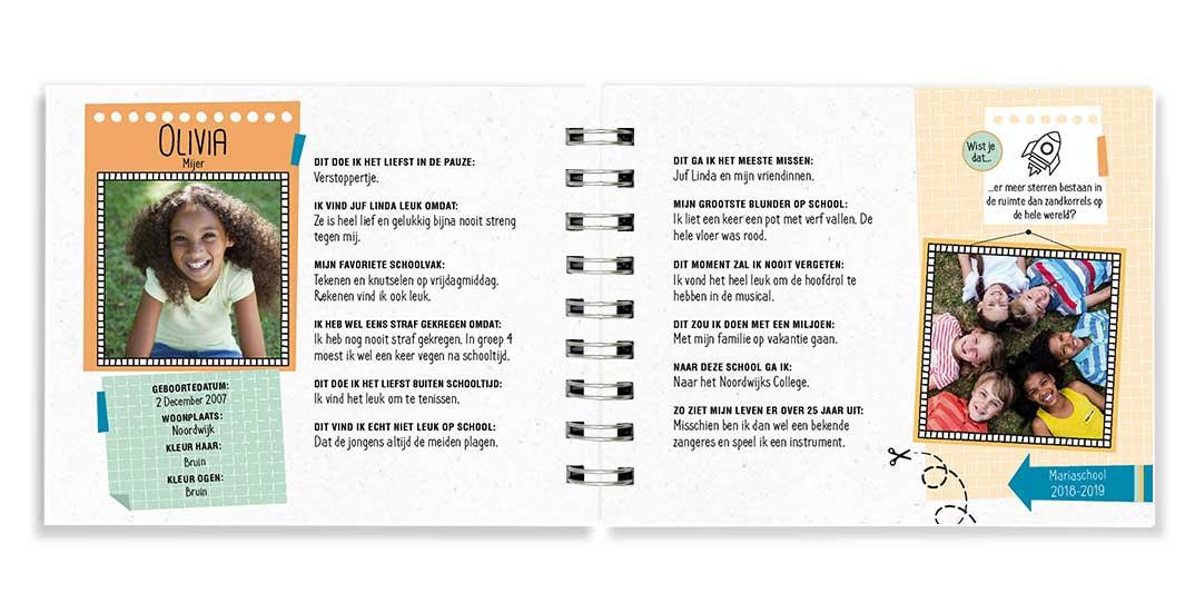 Ongekend Vriendenboekje | Origineel kado afscheid groep 8 CX-03