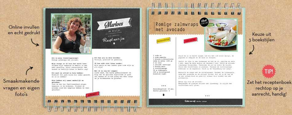 Verwonderend Vriendenboekje | maak een kookboek met eigen recepten PU-18