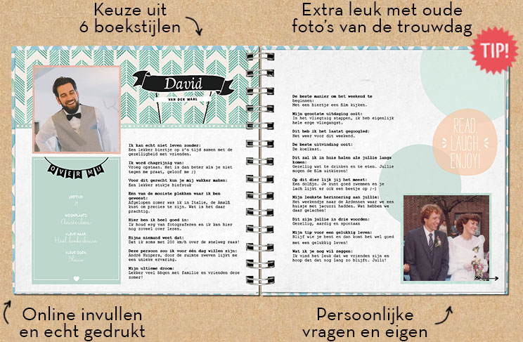 Ongekend Vriendenboekje | Jubileum kado 25 jaar getrouwd OQ-72