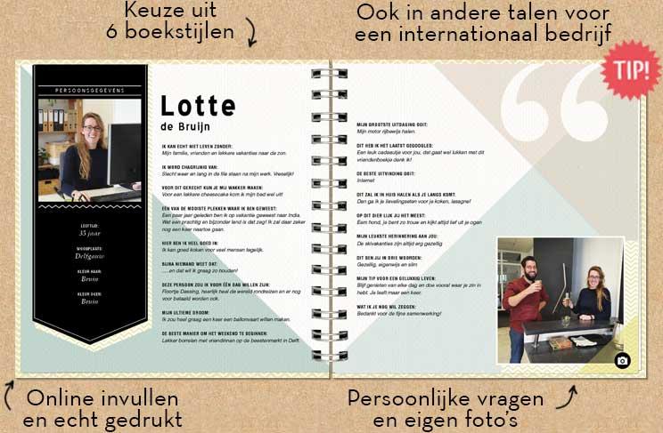 Verwonderlijk Vriendenboekje   Origineel kado collega YD-09