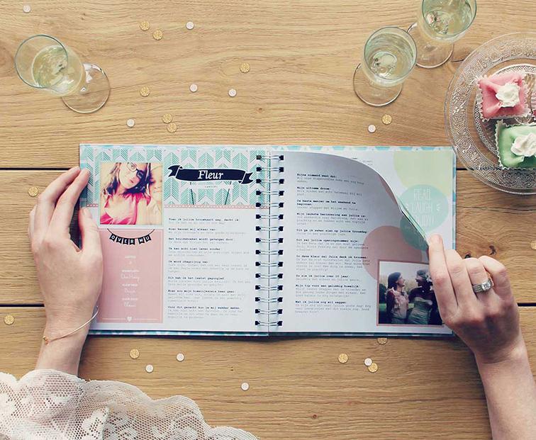 Vriendenboekje Persoonlijk Huwelijkskado Voor Een Bruiloft